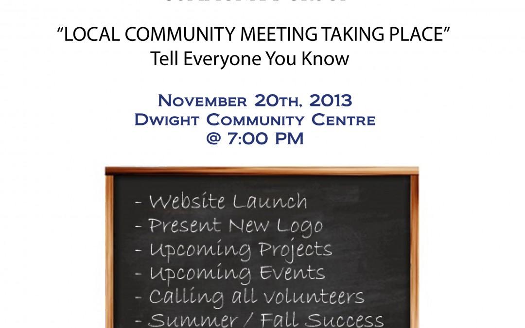 Community Meeting – Wednesday November 20th