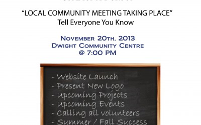 Community Meeting – Wednesday November 20th