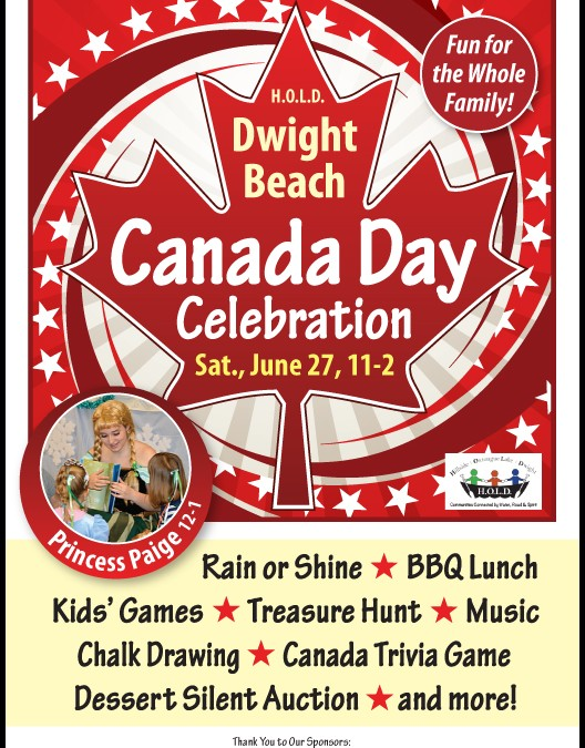 Canada Day 2015 at Dwight Beach