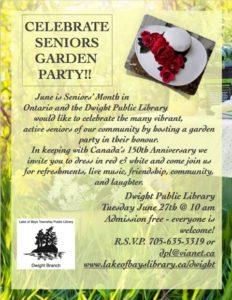 Celebrate Seniors Garden Party