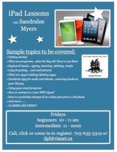 iPad Lessons @ Dwight Public Library