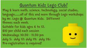 Quantum Kidz Lego Club! @ Dwight Public Library