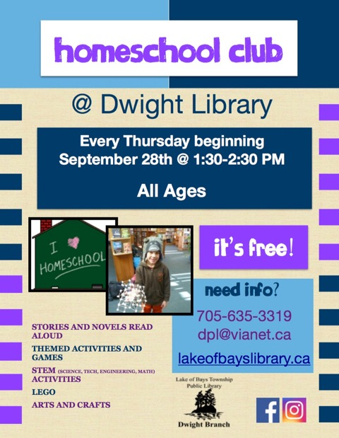 Home School Club @ Dwight Public Library