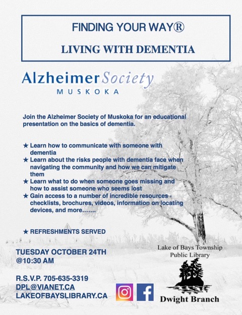 Living With Dementia @ Dwight Public Library
