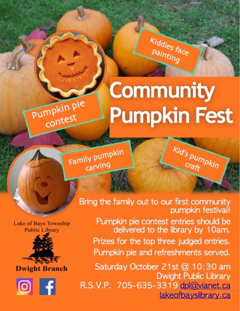 Community Pumpkin Fest @ Dwight Public Library