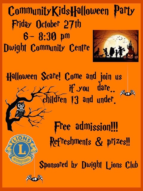 Community Kids Halloween Party @ Dwight Community Centre