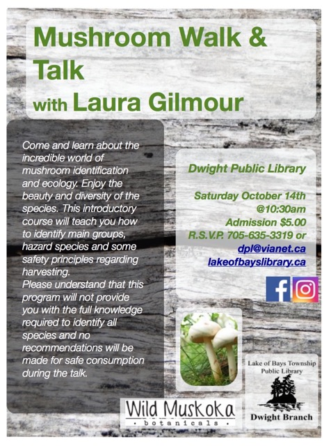 Mushroom Walk and Talk with Laura Gilmour