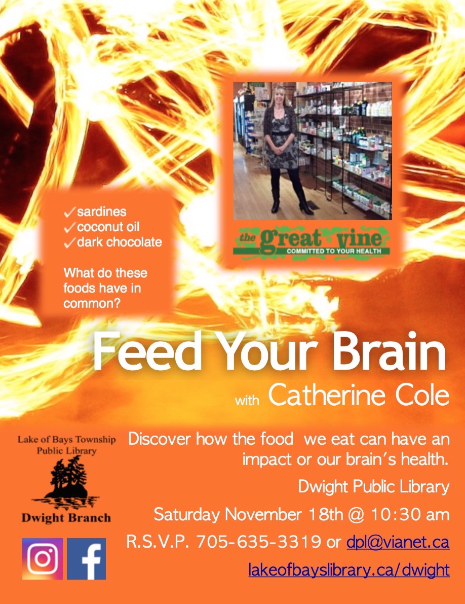Feed Your Brain @ Dwight Public Library