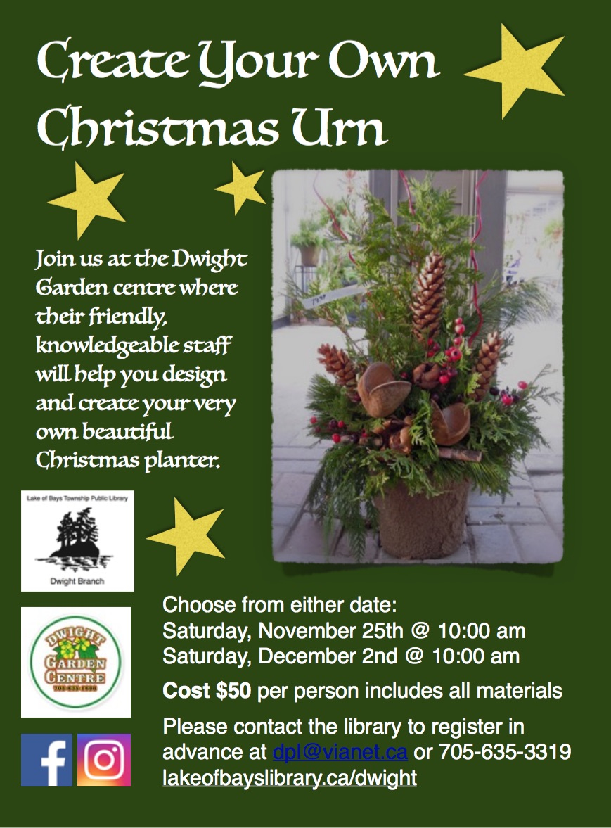 Create Your Own Christmas Urn @ Dwight Garden Centre
