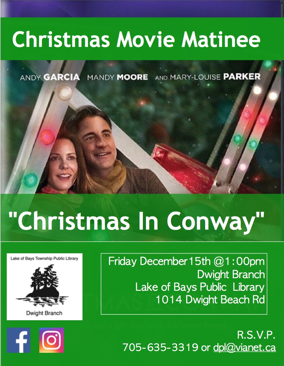 Christmas Movie Matinee: A Christmas in Conway @ Dwight Public Library