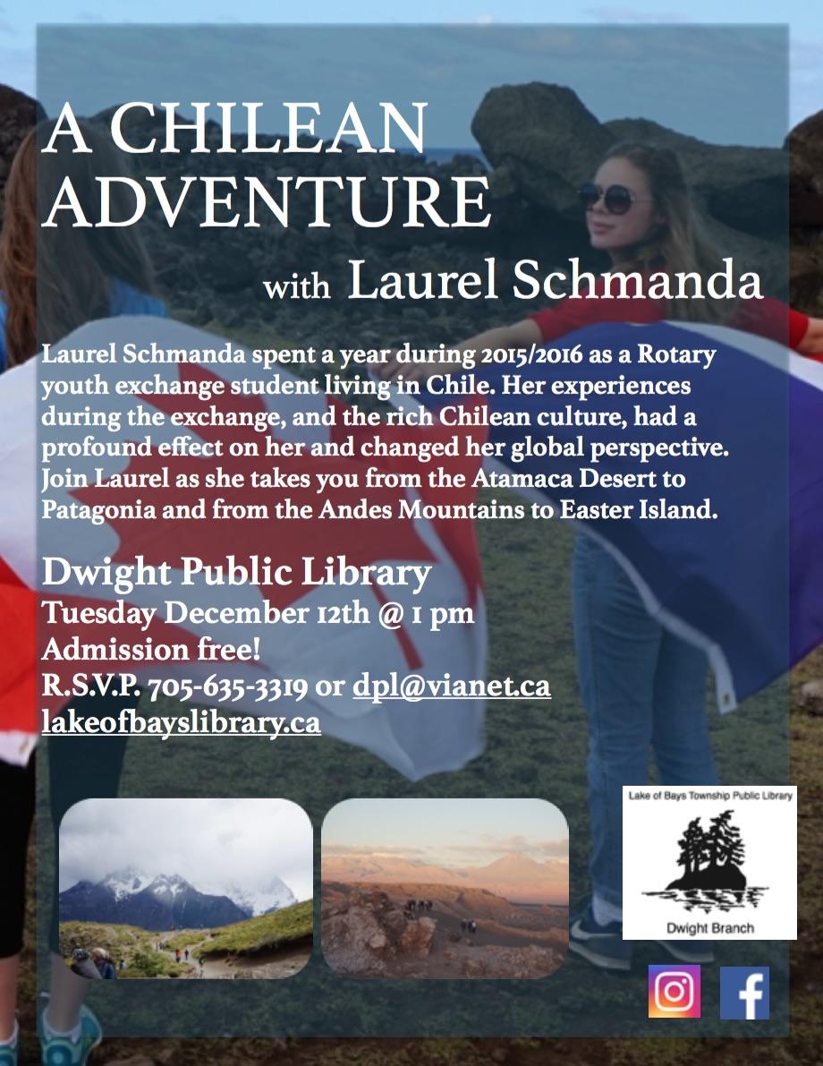 A Chilean Adventure @ Dwight Public Library