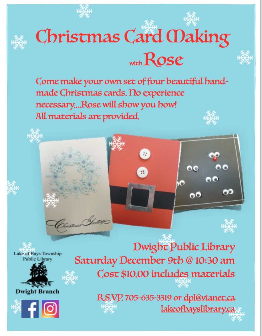Christmas Card Making at Dwight Public Library