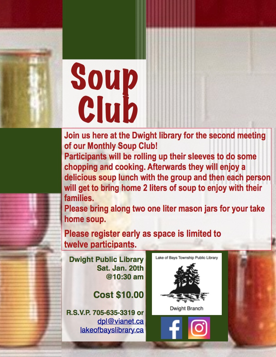 Soup Club at Dwight Public Library @ Dwight Public Library