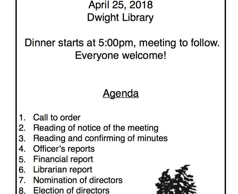 Dwight Friends of the Library: Annual General Meeting