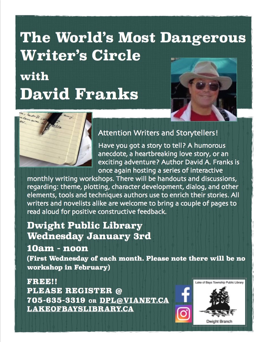 Writer's Circle with David Franks @ Dwight Public Library