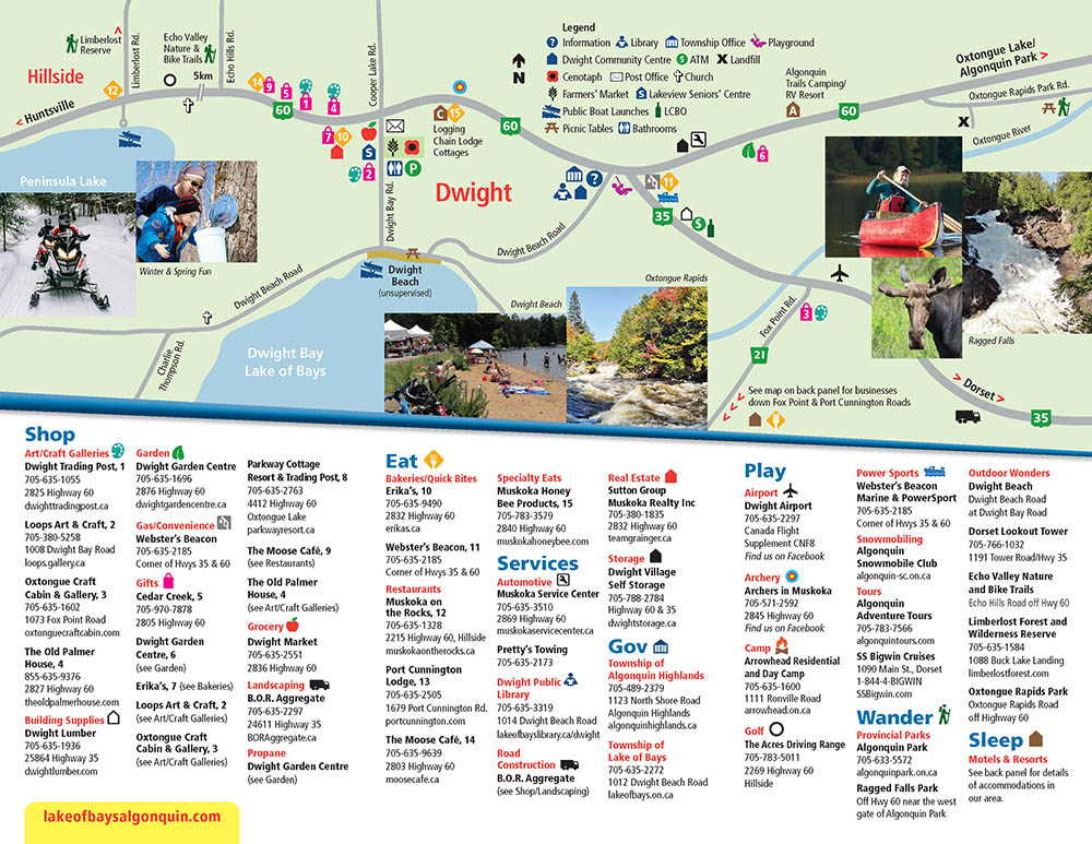 2019 HOLD Brochure Map